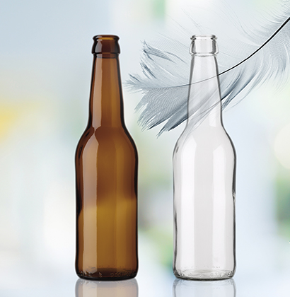 lightweight glass beer bottles