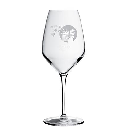 Verre à vin avec gravure La Cavagne