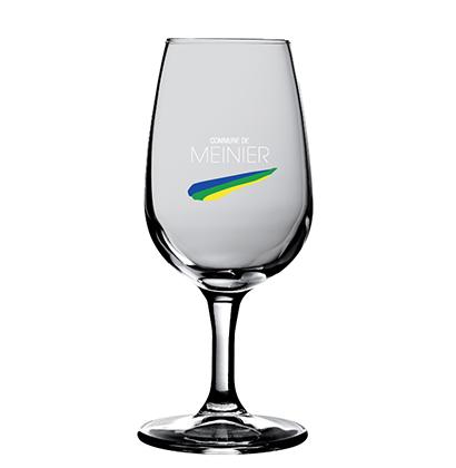 Verre à vin avec gravure Commune de Meinier