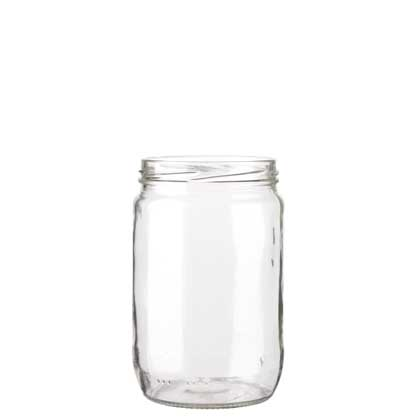 Pot à confiture 660 ml blanc TO82