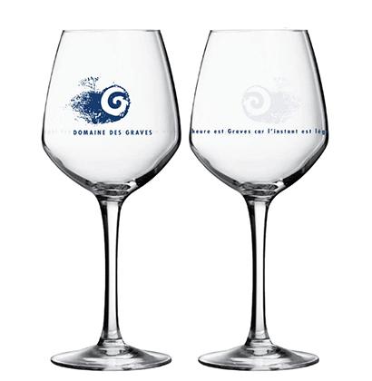 Engraved wine glass Domaine des Graves