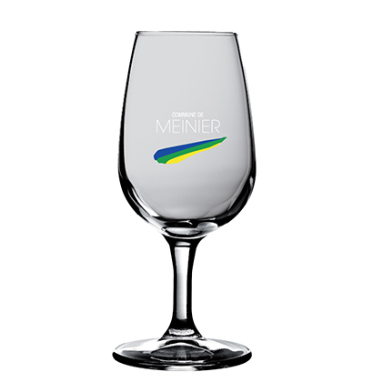 Weinglas mit Gravur Commune de Meinier