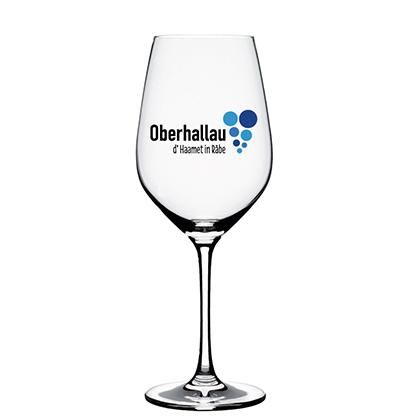 Engraved wine glass Schaffhauser Blauburgunderland