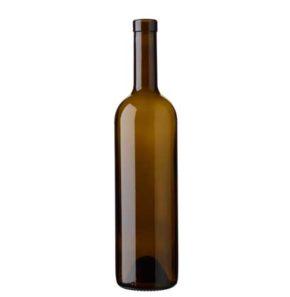Bordeaux wine bottle bartop 18.5mm 75 cl antique Europe H63