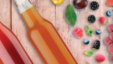 Bouteille en verre jus de fruit