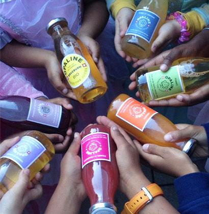 Juice glass bottle