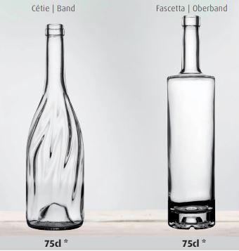 Roséweinflaschen