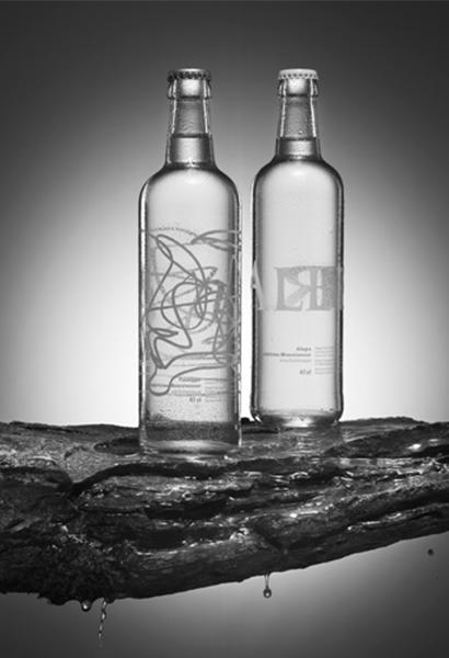 Glaswasserflasche Allegra ©allegra-passugger.ch