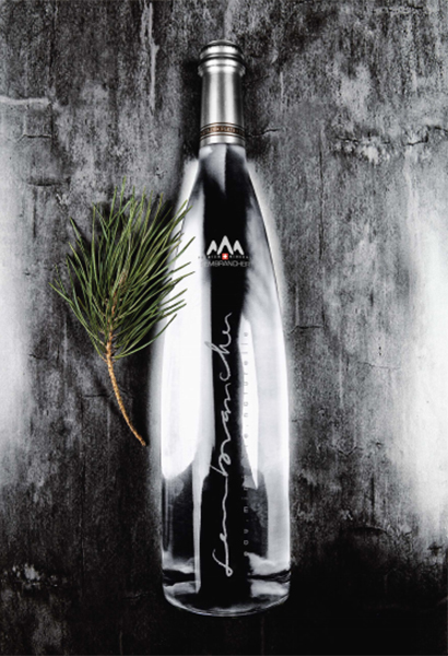Glaswasserflasche