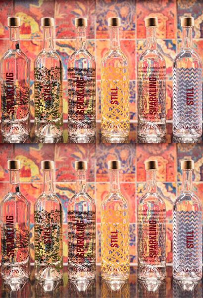 Glaswasserflaschen Valsana ©valsana.ch