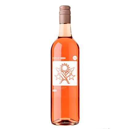Personalised rosé wine bottle