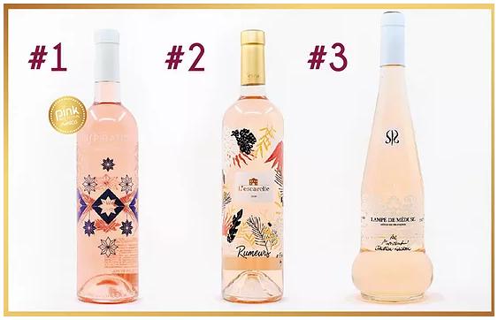 Rose wine bottle Pink Design Award 2020