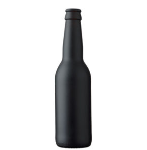 Beer bottle crown 33 cl Long Neck black matt