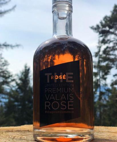 Personalisierte Roseweinflasche