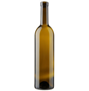 Weinflasche Bordeaux Oberband 75cl antik Harmonie H55mm