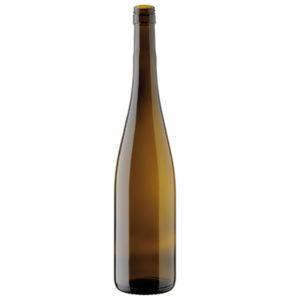 Weinflasche Rheinwein BVS 30H60 75cl antik 350mm