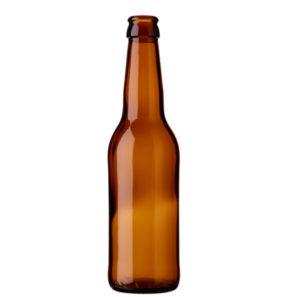Bierflasche KK 33cl long neck Braun (leicht)