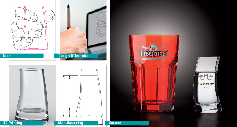 forma di bicchiere