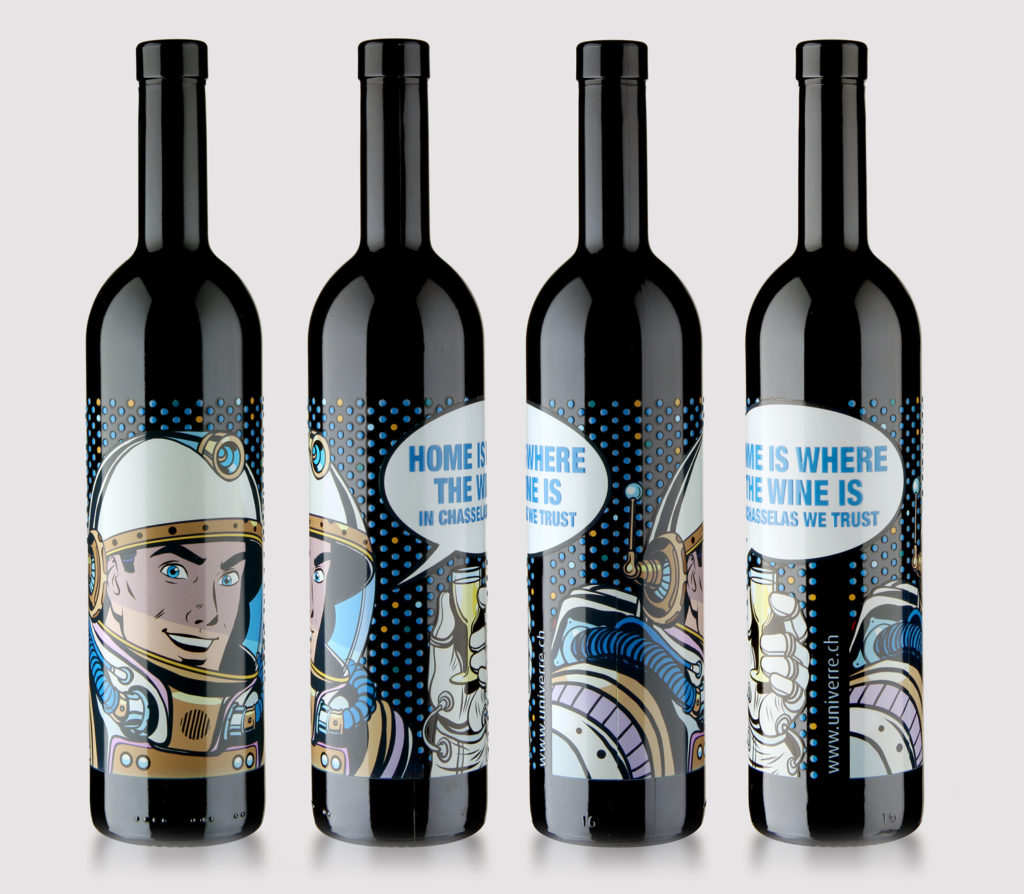 Digital printing on glass: allows printing of many colours and shapes.
