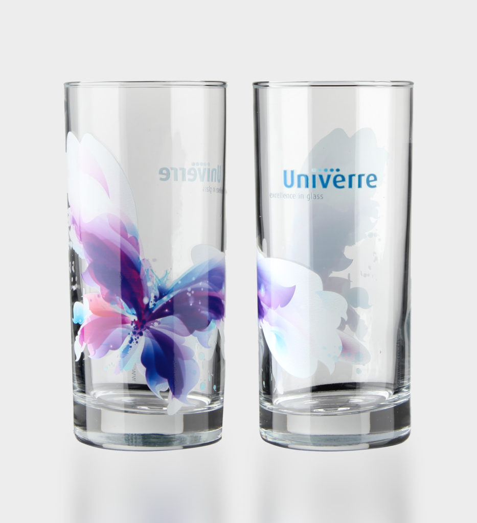 Digital printing on glass: drinking glasses can also be printed