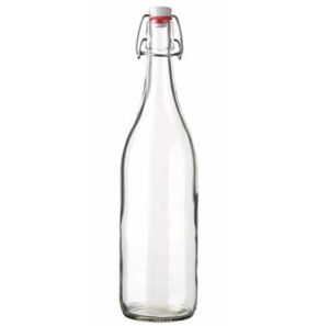 Swing top spirit bottle 100 cl white