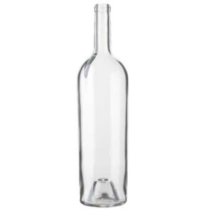 Bordeaux wine bottle cetie 1.5 l white Magnum Elegance