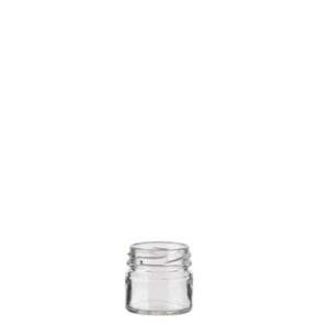 Jam Jar 33 ml white TO43 Monodose