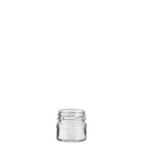 Jar 33 ml white TO43 Monodose