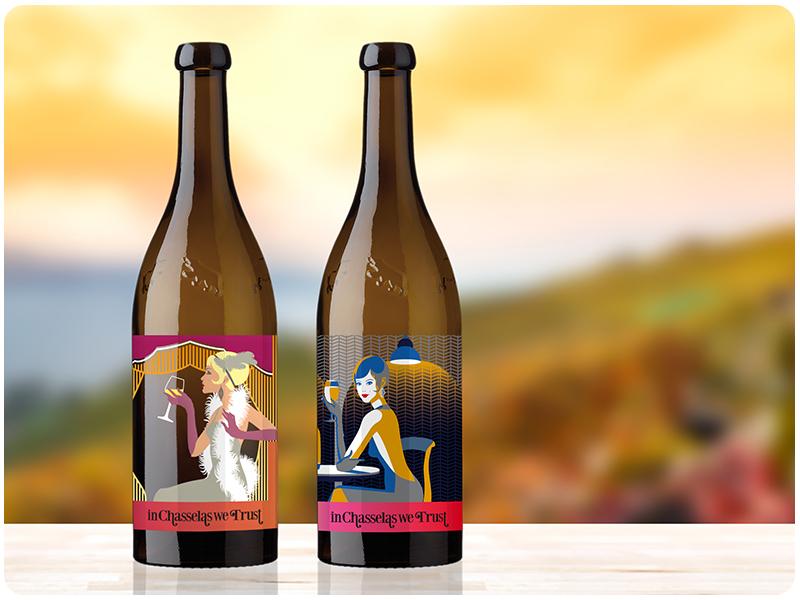 Wein Flasche In Chasselas We Trust