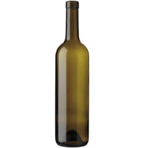 Bordeaux wine bottle bartop 75cl olive green Europe 2