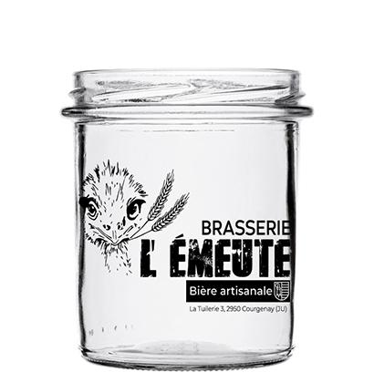 Personalised beer glass   Brasserie L'Emeute