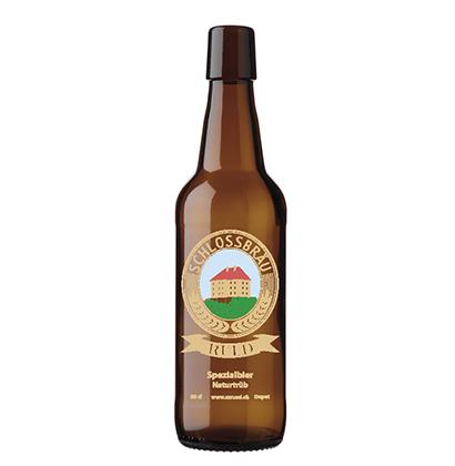 Personalisierte Bierflasche   Seminarzentrum Rued AG