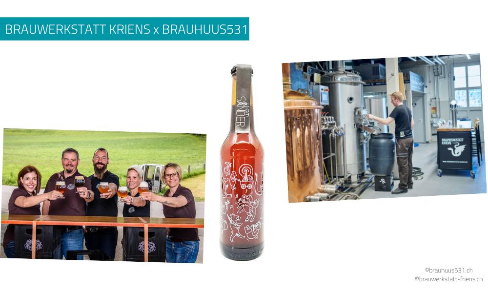 Personalisierte Bierflasche für eine Zusammenarbeit
