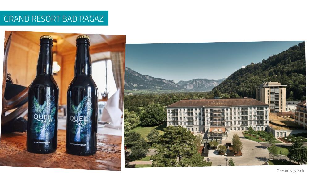 Personalisierte Bierflasche Grand Resort Bad Ragaz