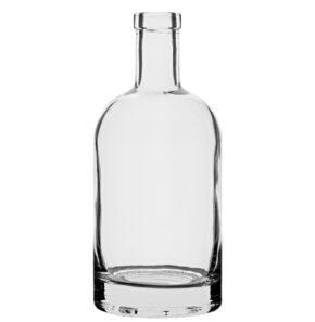 Bottiglia per liquori Fascetta leggera 70cl bianco Oblò