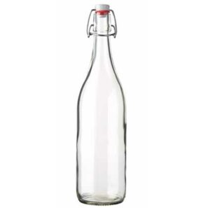 Swing top water bottle 100 cl white