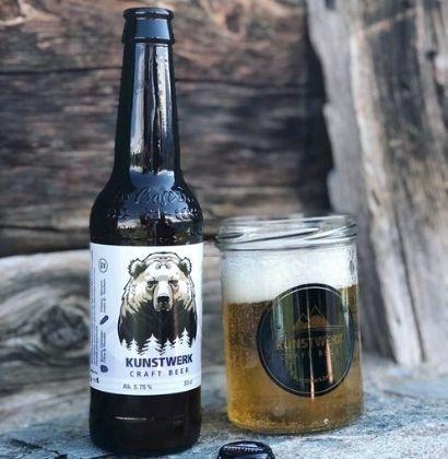 Personalised beer bottle Kunst Werk Brewery