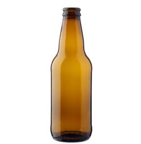 Bouteille à bière couronne 33cl Premium brun