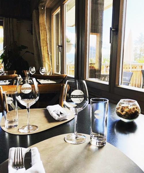 verre personnalise restaurant Le Bois Sauvage