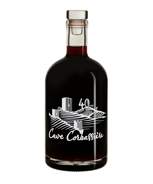 wine bottle printing Empreinte Cave Corbassiere
