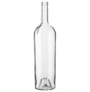Bordeaux wine bottle cetie 1.5 l white Magnum Elegance