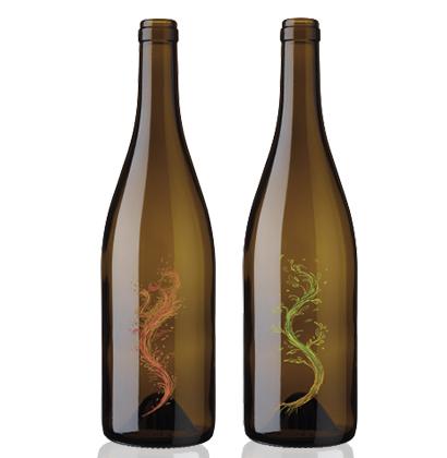 Six Elements bouteille de vin gravée bedruckte weinflasche printed wine bottle